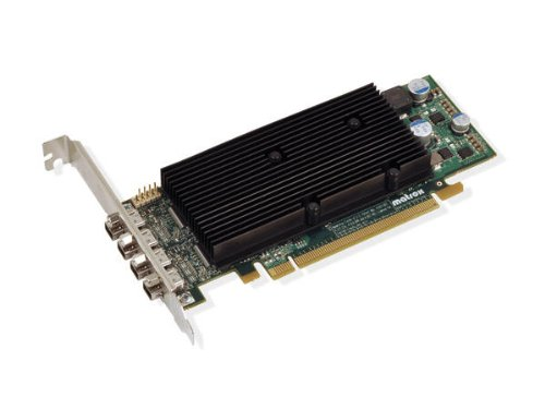 Matrox M9148 LP Grafikkarte (PCI-e, 1GB DDR2 Speicher, 4 DisplayPort, 1 GPU)