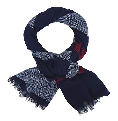 Ella Jonte Herrenschal blau weiß rot Herren blauer Schal Herrentuch Tuch Viskose