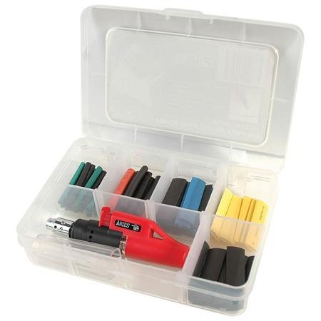 95 Piece Mixed Colors Heat Shrink Kit with Heat Gun - 2:1 Ratio-2PK