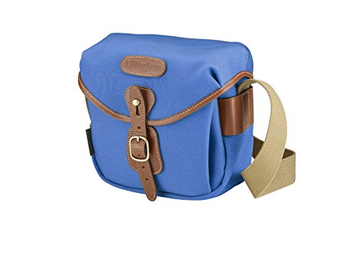 Billingham Tasche Hadley Digital Leinwand Imperial Blue/Bordi Leder Hellbraun und innen orange