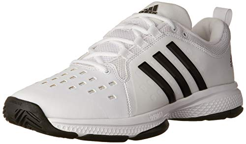 adidas Men's Barricade Classic Bounce Tennis Shoes, White/Black/White, (10 M US)