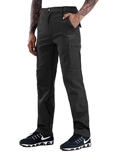 Zoerea Invernale Pantaloni Outdoor da Uomo Foderati in Pile Trekking Impermeabili Elasticizzati Slim Fit Si Asciugano Velocemente Calzoni Invernali da Viaggio