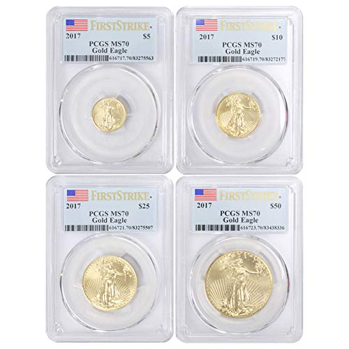 2017 American Gold Eagle 4-Coin Set MS70