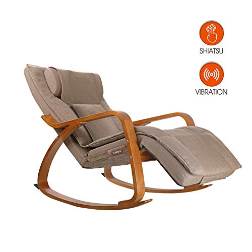OWAYS Massage Chair 3D Full Back Massager, Rocking Design, Adjustable Pillow, Vibrating...
