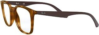 Ray-Ban RX7177F Asian Fit Square Eyeglass Frames Non Polarized Prescription Eyewear