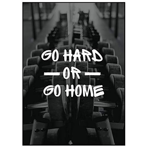 ARTTASTIC 2er Poster Set - Fitness Poster, Bodybuilding Poster, Poster Motivation, Deko für Trainingsraum und Fitnessstudio OHNE RAHMEN
