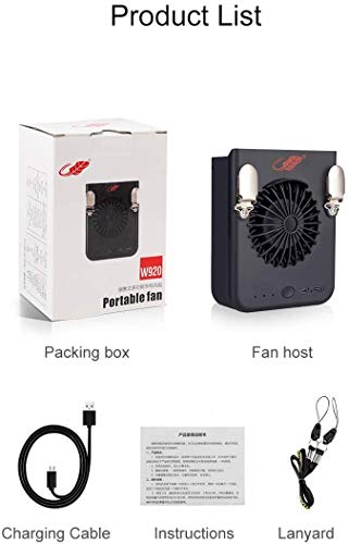 Mini Handheld Personal Fan, Portable Rotate USB Fan Battery Powered Electric Fan/Rechargeable/Small for Woman Men Kids/Office Room Outdoor Travel Desk Table Computer -  FANCYWING, YA0013FW-W