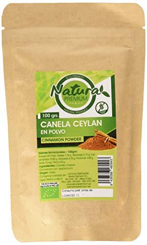 Natura Premium Canela Ceylan en Polvo, 100g, Pack de 1
