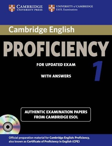 Cambridge English Proficiency 1 for Updated Exam Self-Study Pack (Student's Book with Answers and Audio CDs (2)): Authentic Examination Papers from Ca: Authentic Examination Papers from Cambridge ESOL