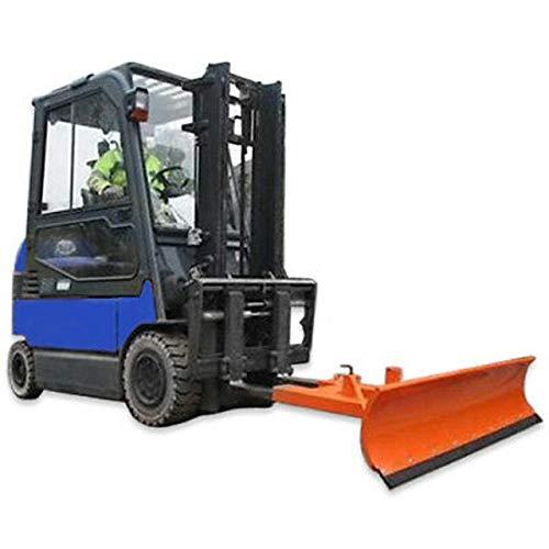 Universele sneeuwschild verstelbaar voor heftrucks - winterdienstapparatuur 125cm x 40cm oranje