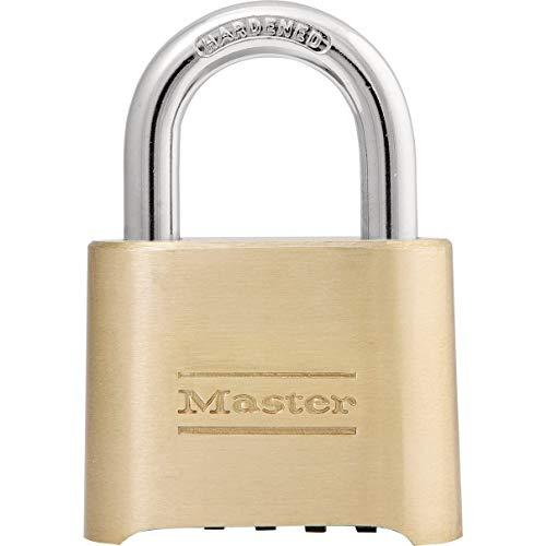 Master Lock 175D Locker Lock Set Your Own Combination Padlock, 1 Pack, Brass Finish