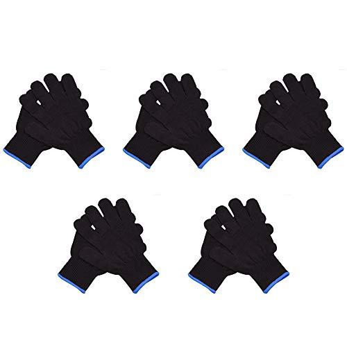 Hitzeschutzhandschuh Friseur Hitzebeständiger Handschuh, Für Haarstyling, Lockenstäbe Und Glätteisen, Locken Und Glätten Der Haare Leicht Gemacht, Schützt Sicher Vor Verbrennungen (5 Paar)