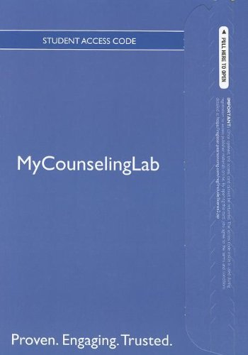 The NEW MyCounselingLab with Pearson eText -- Standalone Access Card -- for Professional Counselor: A Process Guide to H