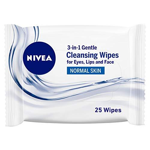Lenços de Limpeza Demaquilantes Nivea 3 em 1 Ação Refrescante 25 Unidades, Nivea
