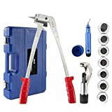 CO-Z 11pc Tube Expander Tool Kit with Pipe Cutter, Deburring Tool, Chamfering Tool, 7 Expander Heads 3/8' to 1-1/8' | Tube Expanding Tool Kit for Aluminum Pipes, Copper Pipes, More with Storage Case