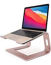 """Laptopstandaard - Ergonomische notebookstandaard - Aluminium verwijderbare laptophouder - demonteerbare ventilatiehouder, Riser voor MacBook ProAir, HP, Dell, Lenovo, Samsung, HUAWEI, alle 10 """"~ 17,3"""" notebooks (roségoud)"""