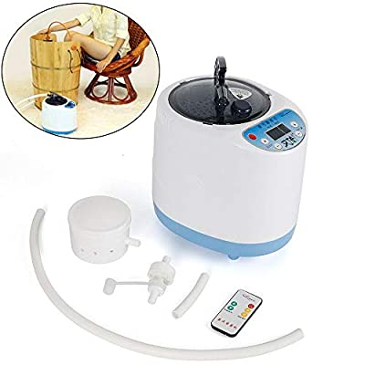 NICE CHOOSE Fumigation Machine, 2L 900W Portable Sauna Tent Body Therapy Steamer Pot Home Shower Spa Steam Generator with Remote Control - US Shipping
