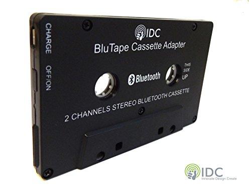 IDC © BluTape Bluetooth récepteur voiture / Van adaptateur de Cassette stéréo - tour une cassette standard stéréo lecteur Bluetooth pour la musique sans fil. Flux audio de votre lecteur de cassette classique à votre smartphone ou tablette. Par exemple Iphone 4 5 6 7 - Ipad ou Samsung Téléphone Etc. Version 4.0 + EDR Bluetooth.