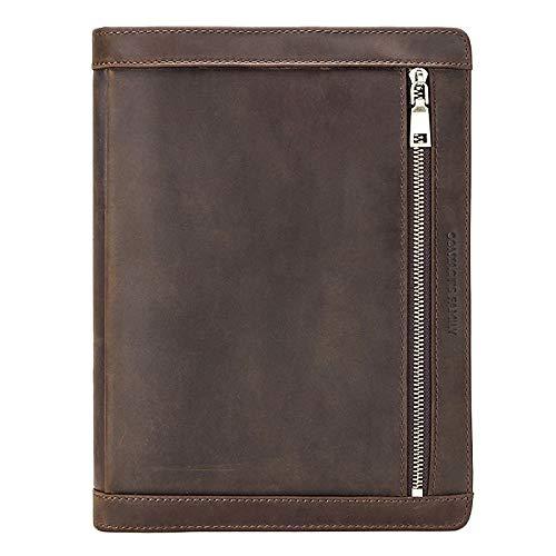 Timagebreze Vintage Ledertasche für Pro 10.5 Air 3 11 2019 Tablet Protector für 9.7 Air 2 Journalhalter mit Rei?Verschluss