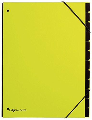 Pagna - Archivador tipo acordeón (12 compartimentos), color verde