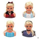 1 Frisierkopf Schminkkopf Schminkpuppe für Kinder Frisierpuppe blond Spielzeug Puppe Prinzessin Spielzeug Puppen mit Haaren Kinderschminke Frisieren Styling Kopf Frisieren Schminke Kosmetik Zubehör