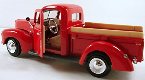 unbrand MotorMax 1940 Ford Pickup Truck 1:24 Scale 8' diecast Model car Red M48 NKS