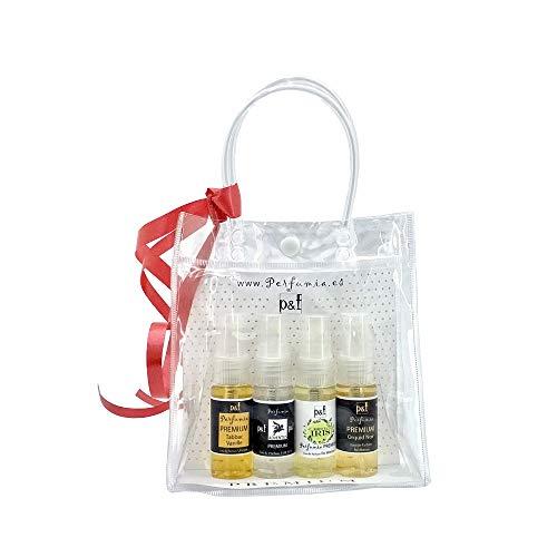 Set regalo 4 perfumes PREMIUM by p&f Perfumia, vaporizador (4 x 25 ml = 100 ml)