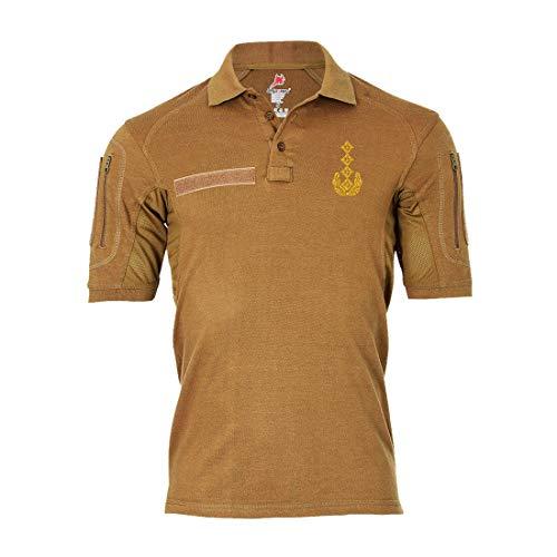 Copytec Tactical Poloshirt Alfa - General Dienstgrad Schulterklappe Aufschiebeschlaufe Unter-Offizier Mannschafter #19108, Farbe:Khaki, Größe:Herren XL