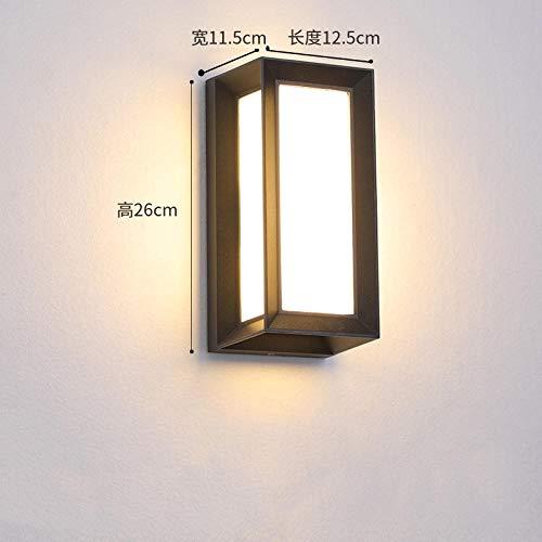 GYBYB Loft industrial Led Impermeable Lámparas de pared Pasillo Sensor de movimiento Lámpara de pared Balcón Porche Jardín al aire libre Corredor Lámparas de pared @ 18_w_F_NoSensor_coldwhite