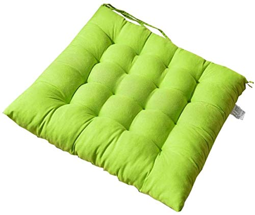 WHCQ Chair Cushions for Dining Chairs, Garden Chair Cushion Seat Cushion Back Cushion Recliner Multiple Styles Cushion Chair Pads for Office Chair and at Home Soft Foam Washable,Apple Green