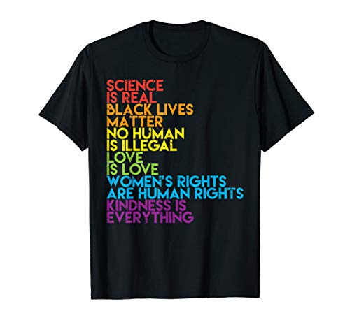 Science Is Real Black Lives Matter Rainbow LGBT Pride Gift T-Shirt