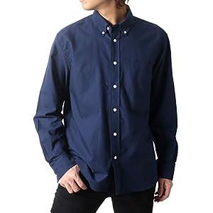 [コンバース] シャツ メンズ 長袖 オックスフォード ボタンダウンシャツ ネイビー 大きいサイズ LL