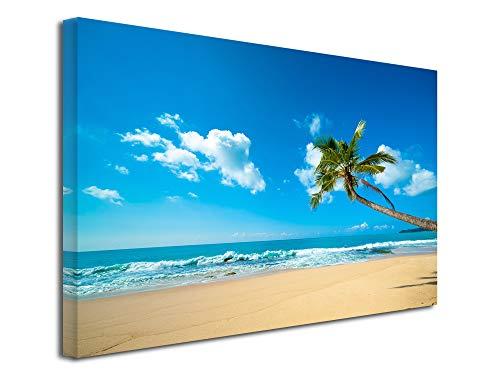 DECLINA Decina - Cuadro Decorativo de Pared para salón, Marco de Pared, diseño de Isla Tropical, 50 x 30 cm, Lona, 150x100 cm