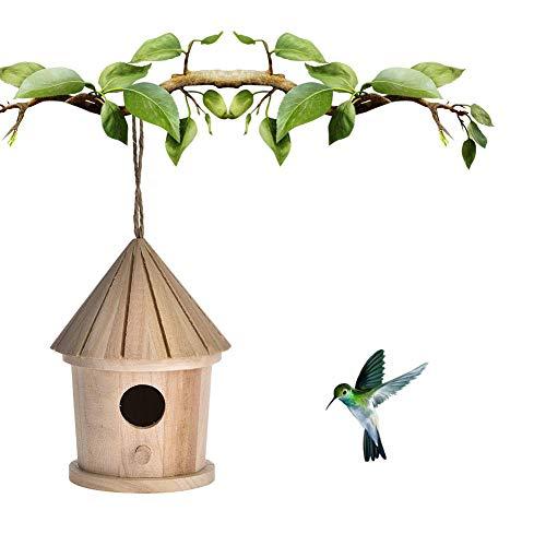 Evenlyao Vogelhaus Nistkasten Für Meisen,Nistkasten Vogelhaus Aus Holz Natur Zum Bemalen,Stabiles Holz Vogelhäuschen Zum Aufhängen Für Garten Und Balkon,
