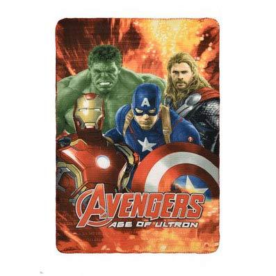 NADA HOME Plaid Pile Marvel Morbida Coperta Stampa Avengers Ironman Capitan America 1282