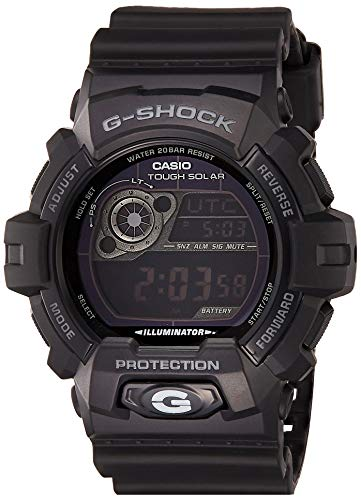Casio Men's GR8900A-1 G-Shock Tough Solar Digital Black Resin Sport Watch