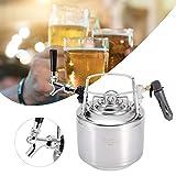 Barril de cerveza 6L 10L 12L, barril de cerveza de coque de acero inoxidable con kit de grifo no ajustable para sistema de elaboración casera(6L)