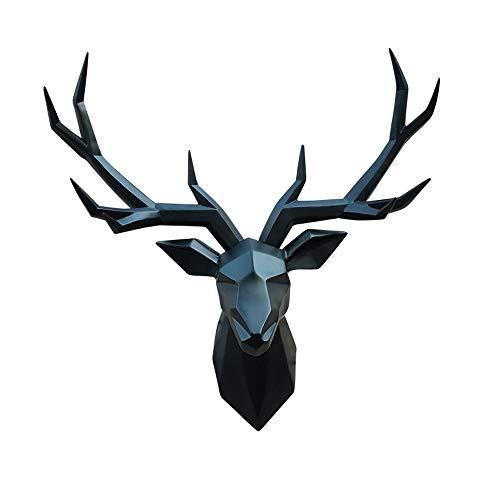 JZSGY Rotwild-Kopf-Dekoration Wandbehang - Tierkopf Wandbehang Harz Rotwild-Kopf-Hauptdekor - Kreative Restaurant Kleidung Shop-Wand-Kunst-Dekoration Skulptur Anhänger Wandhalterung