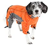 DOGHELIOS 'Blizzard' Full-Bodied Comfort-Fitted Adjustable and 3M Reflective Winter Insulated Pet Dog Coat Jacket w/ Blackshark Technology, Medium, Orange