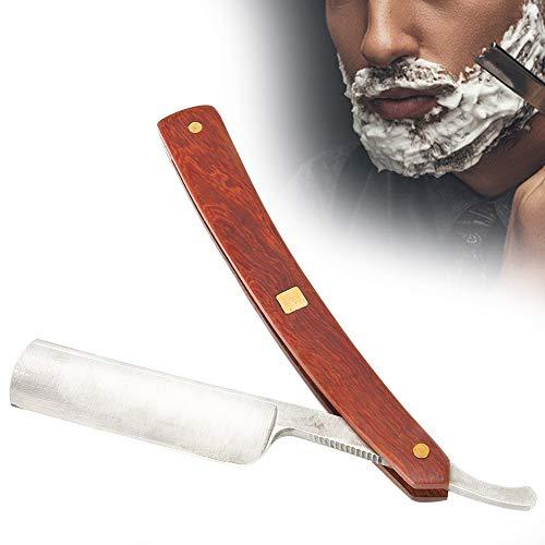 Rasiermesser, Rasiermesser mit gerader Silberkante für Herren, Klinge aus mattem Finish, Edelstahl, handgemacht, scharf, Holzgriff