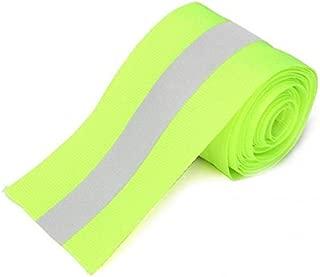 gazechimp 2 Pcs Safety Reflective Webbing Ribbon Trim Strip Sew On 3meters/10ft Green