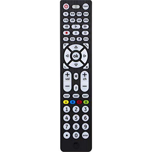 GE Universal Remote Control, Backlit, For Samsung, Vizio, LG, Sony, Sharp, Roku, Apple TV, RCA, Panasonic, Smart TVs, Streaming Players, Blu-ray, DVD, Simple Setup, 8-Device, Big Buttons, Black, 37123