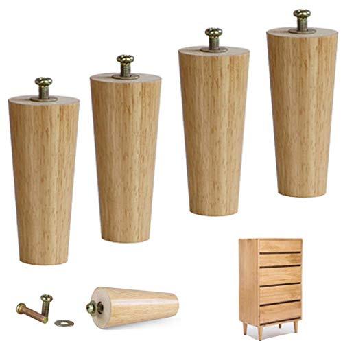 Tafel Leg,4 stuks van massief hout bank benen Meubelvoeten Ronde salontafel poten Vervanging meubels poten bed voeten TV kast Koffietafels Ottoman-16cm/6.3