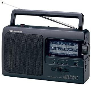 Panasonic 松下 RF-3500E9-K 便携式收音机(模拟调谐器(FM /MW/LW/SW),电源和电池供电)黑色