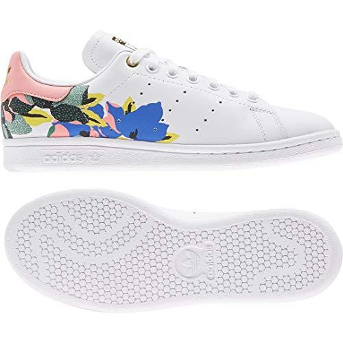 adidas Originals Stan Smith - Zapatillas para Mujer, Color Blanco, Blanco y Negro, Talla N 34,5, Color, Talla 42 EU