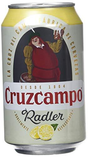 Cruzcampo Radler Limon Cerveza - Caja de 24 Latas x 330 ml - Total: 7.92 L
