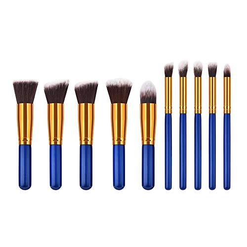 Kakoop 1 jeu de pinceaux de maquillage professionnels pour le visage - Avec manche en bois bleu - Pour les débutants et les personnes expérimentées.