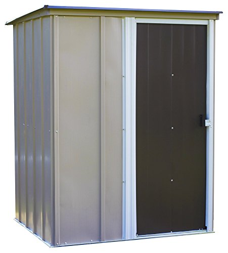 Arrow 5' x 4' Brentwood Steel Outdoor Storage Shed with Sloped Metal Roof,Neutral