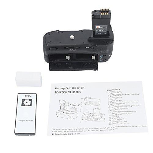 DSTE® Infrarot Fernbedienung Batterie Griff für Canon EOS 760D 750D IX8 T6S T61 DSLR Digital Kamera als BG-E16H