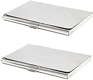 Gadget Deals Combo of Silver Steel Card Holder for Men and Women